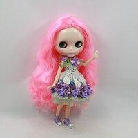Darmowa wysyłka lalka Blyth wspólny organ garnitur dla MAJSTERKOWICZÓW z różowy długie włosy nude lalki dla dziewczynek lalki bjd