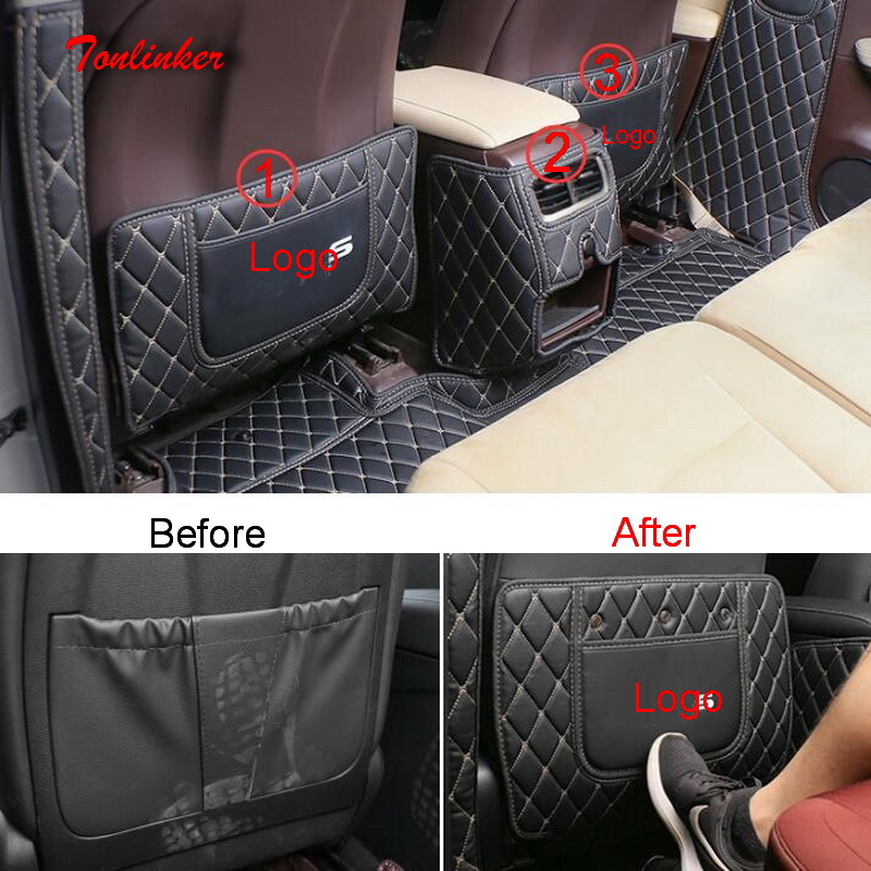 Tonlinker Cover case Sticker For LEXUS 2016 RX NX ES Car styling 1/2 Pcs PU Leather Rear Seat Anti dirty Pad Cover case Sticker|Car Anti-dirty Pad| |  - title=