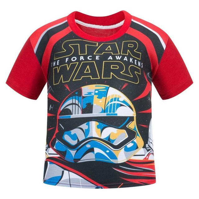 New 2017 Boys Star wars Clothing T- shirt Girls Kids Nova Star Wars Top T-shirt Children Summer T shirt Star Wars Meninos Roupas