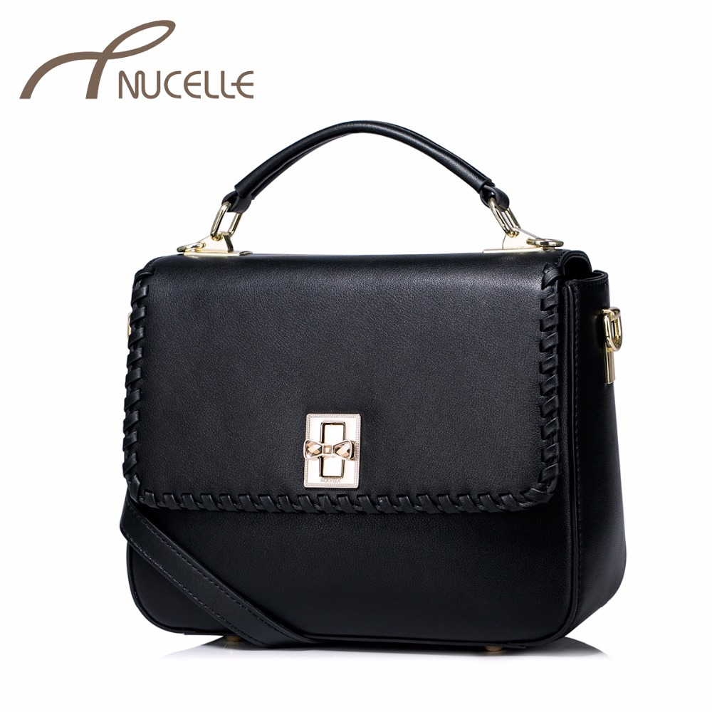 ФОТО Nucelle Women Split Leather Handbag Fashion Ladies Knitting Flap Leather Tote Messenger Purse Female Corssbody Bags NZ4938