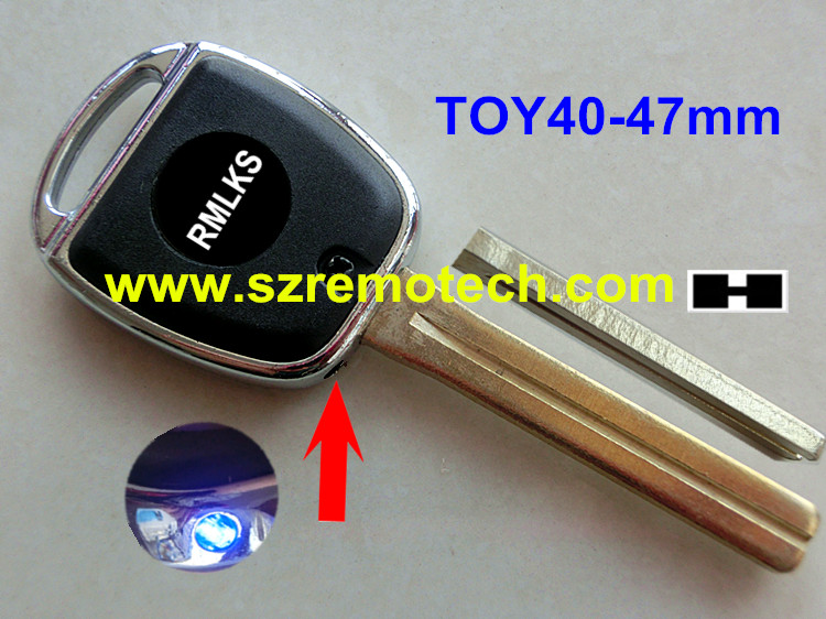 RMLKS New Replacement Car Key Shell Fob Case Transponder Key Fob Cover With Light Fit For