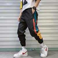 2019 Fashion Mens Casual Cargo Pant Hip Hop Streetwear Men Splice Male Joggers Trousers High Sweatpants Elastic Waist Harem Pant