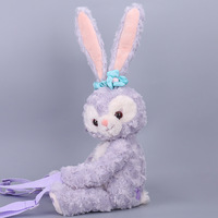 New Duffy Bear Friend Stellalou Rabbit Plush backpack Cute Long Ear Rabbit Plush Bag Soft Stuffed Animal Doll Children Girl Gift