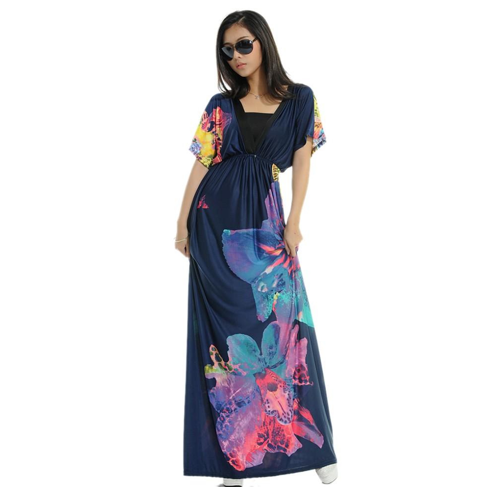 Boho Print Maxi Dress 6XL 12