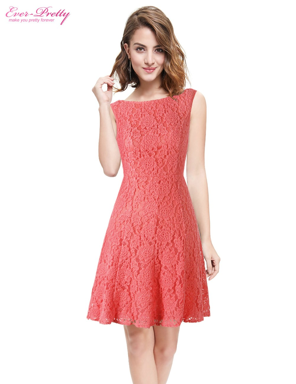 Ever Pretty Cocktail Dresses AS05331 Women Beautiful Fashion Lace ...