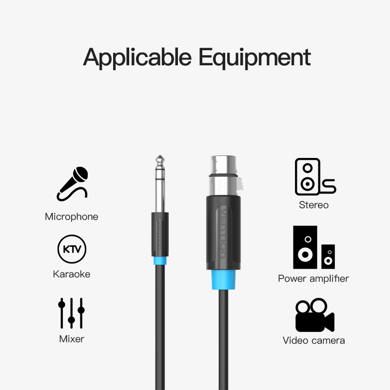 Vention Microphone Cable Wire Xlr Cable Aux Cable Cannon Cable Jack 6 5mm Male To Xlr Female Cord For Mixer Stereo Amplifier New Aliexpress