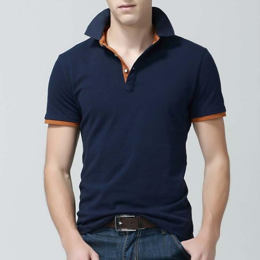 2018 Fashion Bekleidung Neue Männer Polo Shirt Männer Business & Casual Solide Männlich Polo Shirt Kurzarm Atmungsaktive Sommer Chemise Polo
