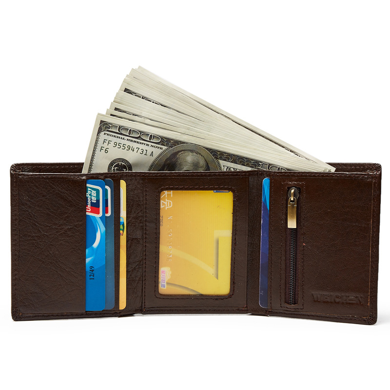 Cow Leather Men Wallets Small Mens Wallet Genuine Leather Male Purse Coin Pocket Business Card Holder Male Wallet cartera mujer