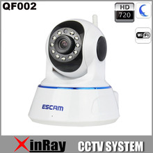 Free Shipping 720P QF002 Wirless Wifi CCTV IP Camera Built in Mic Support IOS Smart Phone Day and Night Version