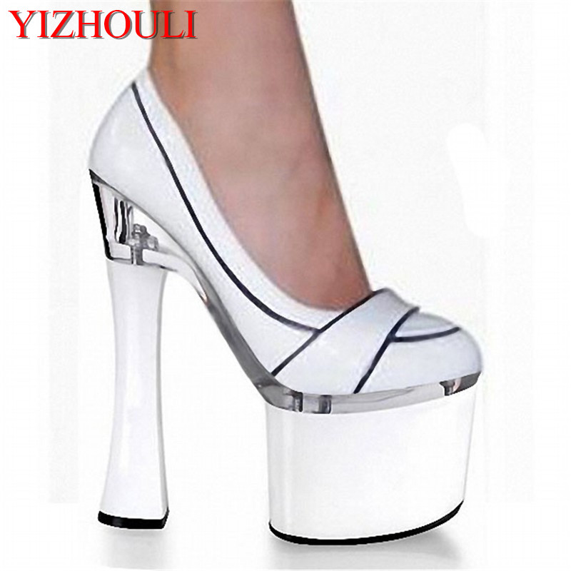 18cm High-Heeled Shoes With Single Shoes Formal Plus Size Shoes Platform 7 Inch Stiletto With Thick Shoes мальцев д мальцев а мальцева л математика 9 класс огэ 2018 решебник