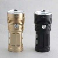 Lampes de poche imperméables en aluminium 10000 Lumens 7 lampes de poche xCREE XM-L T6 led Torches haute basse Storbe 3 Modes lampe à rayons du ciel couleur dorée noire