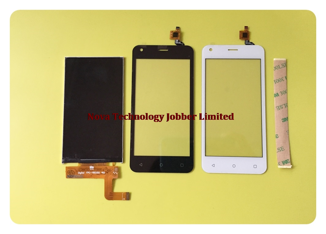 Wyieno Black / White Display For Fly FS454 LCD Screen + Touch Screen Digitizer Glass Sensor Panel Replacement + tracking