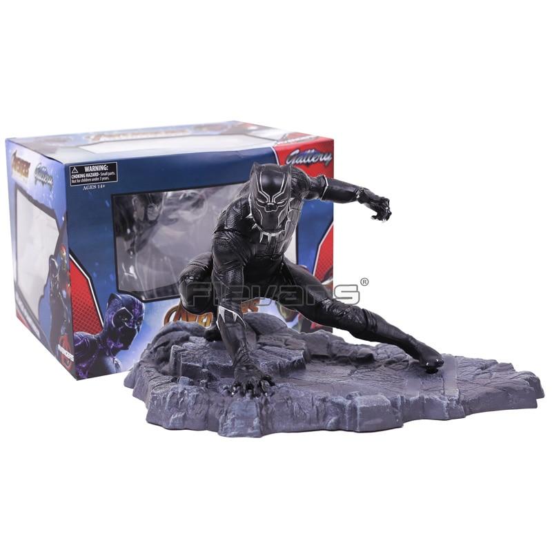Marvel Avengers 3 infinito guerra negro Pantera estatua PVC figura juguete modelo coleccionable