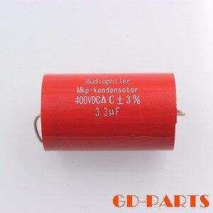 Image 3 - 3.3uf 400VDC Axial Audiophiler MKP sprzęgło kondensator Audio klasy dla rury wzmacniacz gitarowy głośnik Crossover HIFI AUDIO DIY