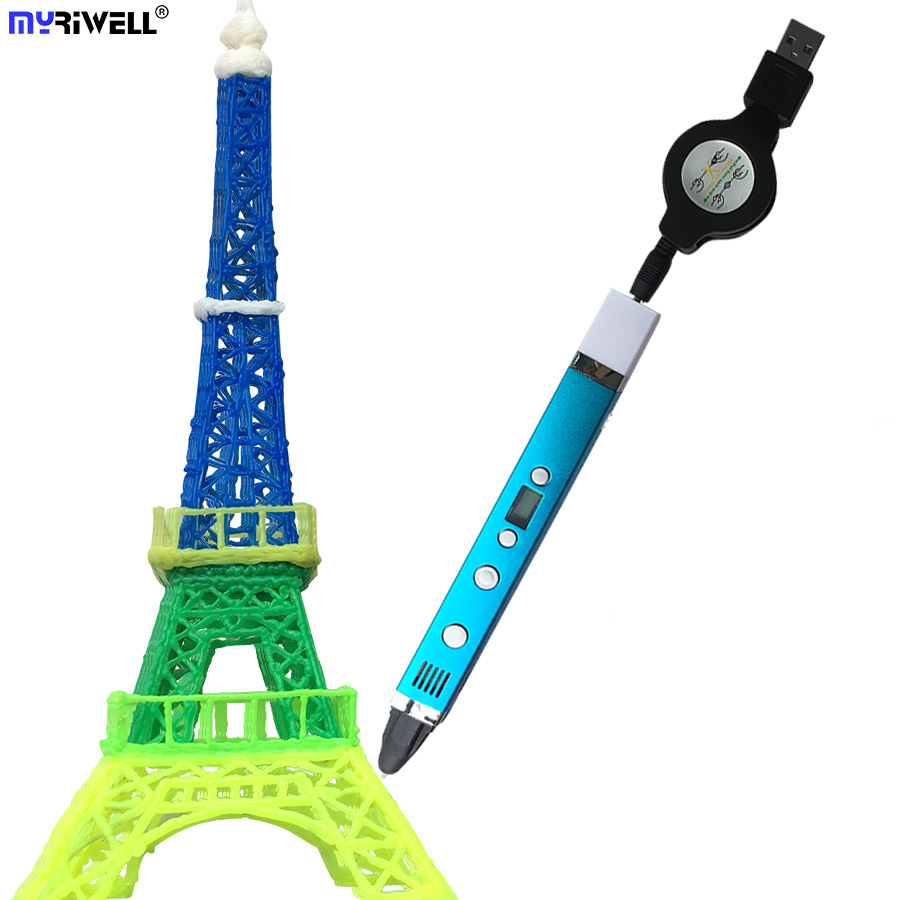 New myriwell RP-100C 3d printer pen Drawing 3D Pen Original Myriwell 3D Printing 3d pens for kids birthday present Useful gifts цена