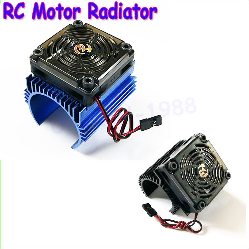 <font><b>Register</b></font> shipping 100% Brand New 1: 8 RC <font><b>Car</b></font> Motor Radiator + 5V cooling fan assembly suit for Hobbywing 4465 3665/3674 motor image