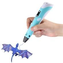 Емеля 3D-принтеры печать Ручка ABS PLA нити искусство рисования картины с нити ЖК-дисплей Дисплей для Детские подарки