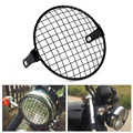 """6.3"""" Retro Motorcycle Grill Side Mount Headlight Lamp Cover Mask Cafe Racer"""