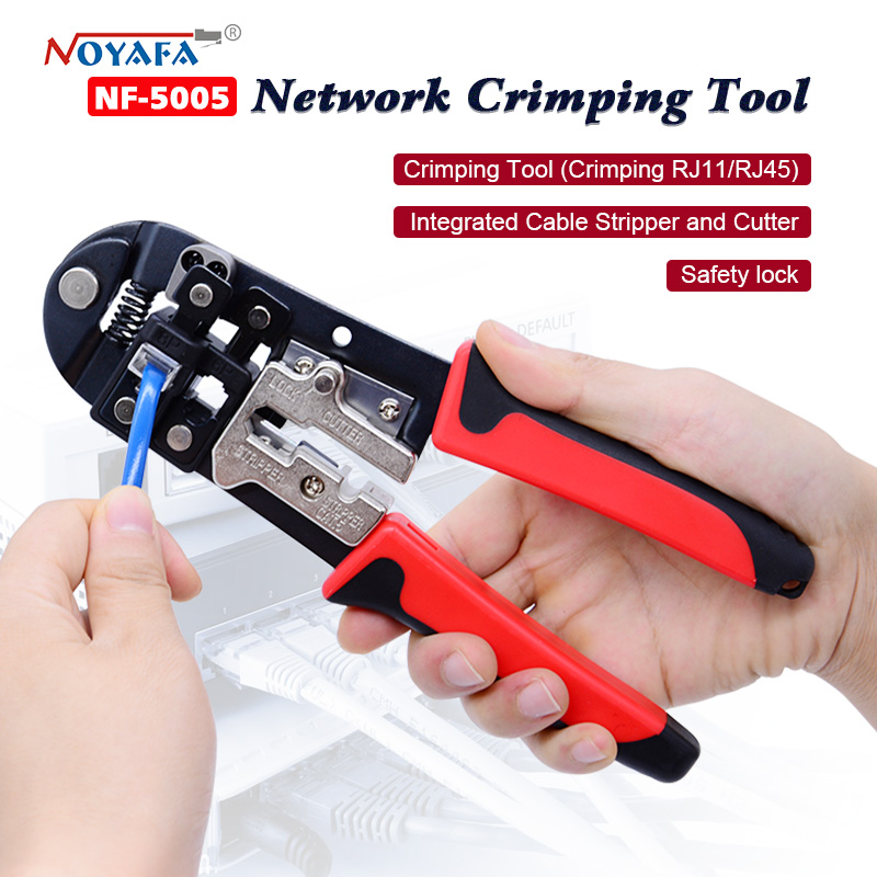 NF-5005 Network Wire Stripper Pliers rj45 Tool Network Crimper Crimping Tools for 8P8C connector stripping cncob 8p8c rj45 cable crimper ethernet perforated connector crimping tools multi function network tools cable clamps