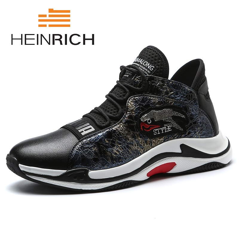 HEINRICH 2018 Spring/Autumn Men Casual Shoes Lightweight Breathable Flats Shoes Top Quality Comfort Loafers Calzado Hombre mycolen new fashion men s gym shoes outdoor casual flats designer lightweight trainers breathable shoes men calzado hombre