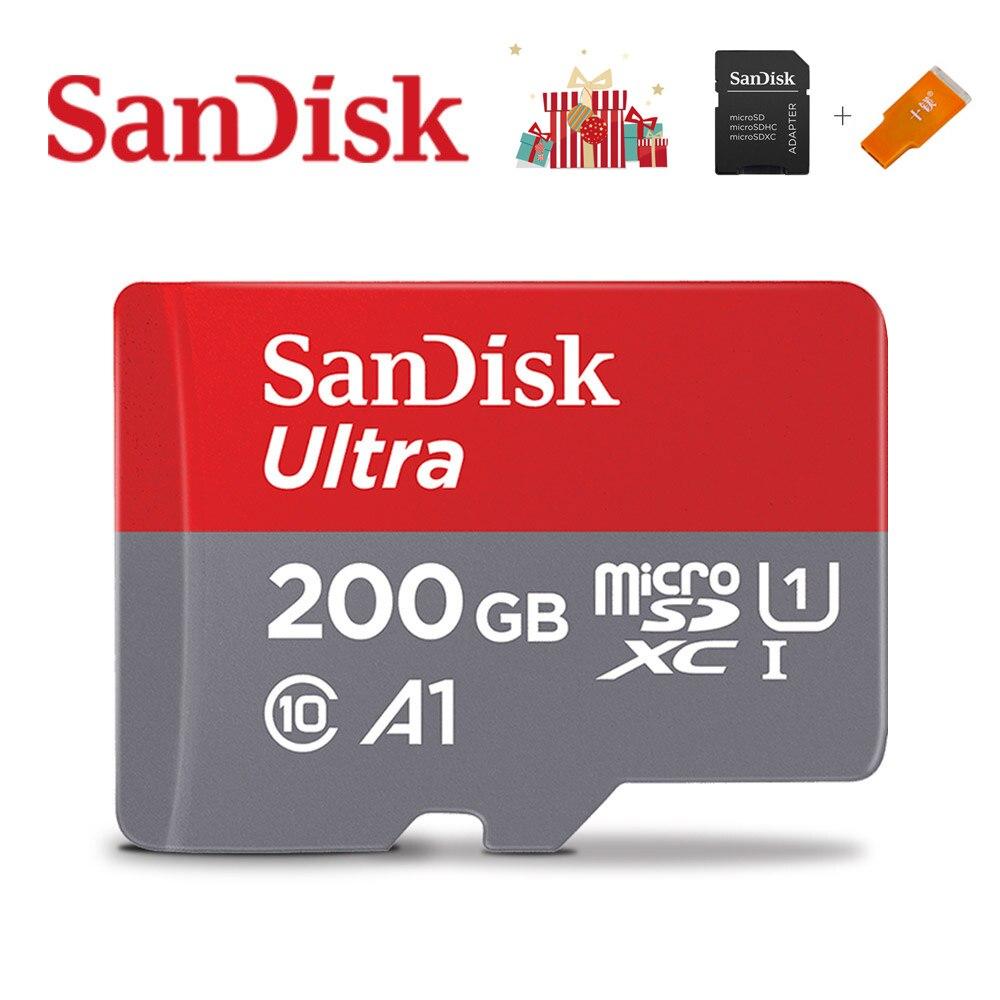 Карта памяти SanDisk A1, 400 ГБ, 256 ГБ, 200 ГБ, 128 ГБ, 64 ГБ, 98 МБ/с./с, 32 ГБ, Micro sd карта, Class10, флеш-карта, карта памяти Microsd TF, sd, карта s-2