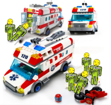 ENLIGHTEN City Series Emergency Ambulance Building Blocks Sets Bricks Model Kids Toys Compatible Legoe недорго, оригинальная цена