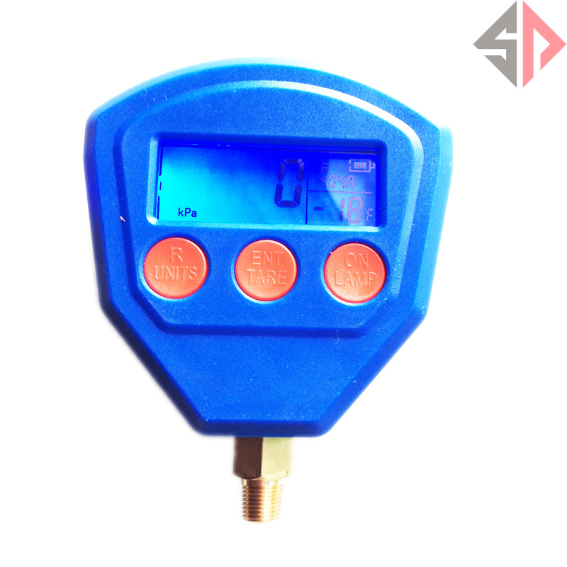 Air Conditioning Refrigerant Pressure Gauge R22 R410 R407C R404A R134A 3pcs lot new r410 r22 air refrigeration charging adapter refrigerant retention control valve air conditioning charging valve