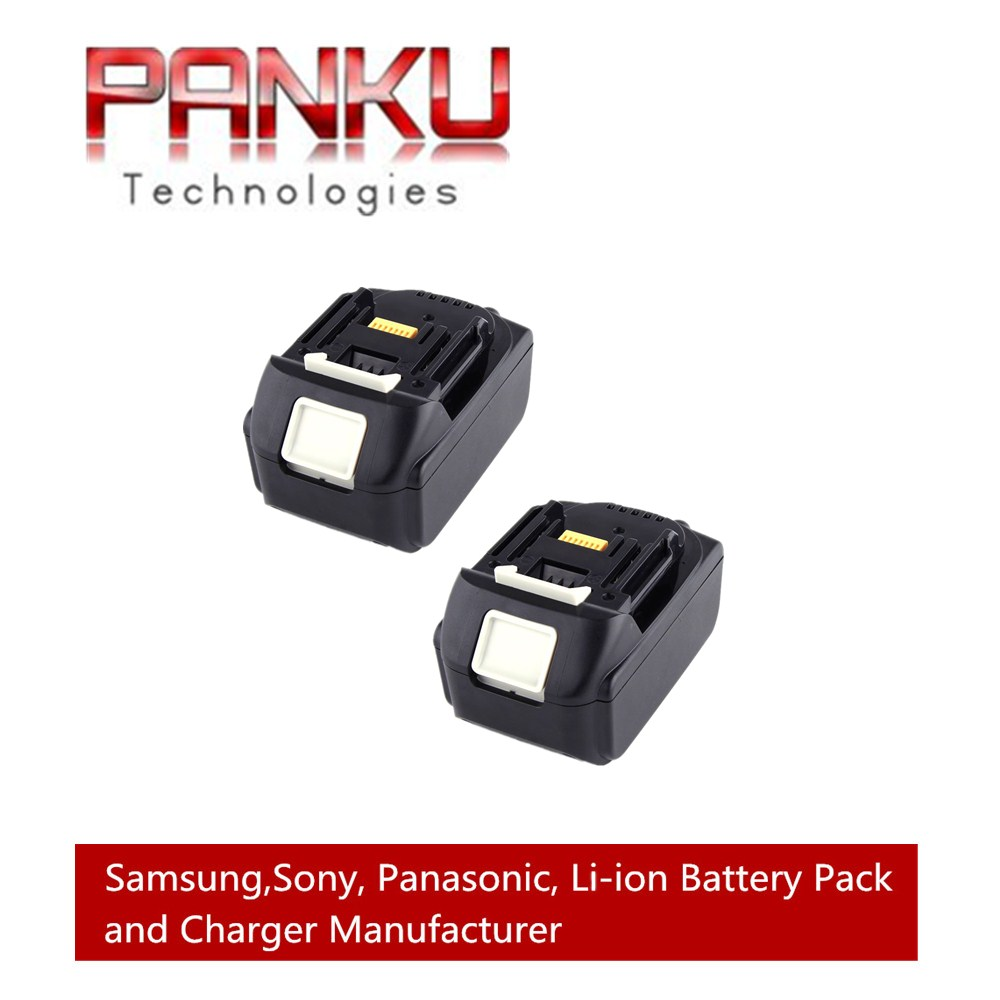 2 X PANKU 18V 5000mAh Li-Ion Replacement Power Tool Battery for Makita BL1830, BL1845 194205-3, LXT400 panku 14 4v 3 0ah replacement battery for bosch bat038 bat040 bat041 bat140 bat159 bat041 2607335534 35614 13614 3660k 3660ck
