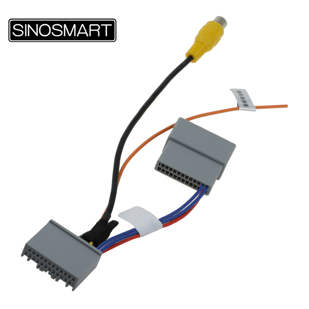 SINOSMART Connection-Cable Monitor Reversing-Camera Honda Accord Without Car-Wiring
