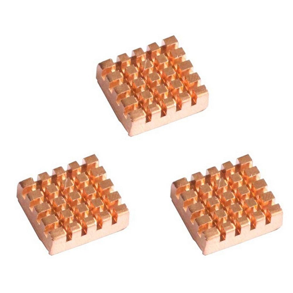 Free Shipping! (3pcs/lot)Golden Copper Heatsink For Raspberry Pi 2 / For Raspberry Pi