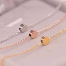 YUN RUO Fashion Brand Yellow Rose Silver Color Classic Gold Bean Pendant Necklace Woman 316L Stainless Steel Jewelry High Polish