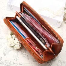 Elegant Vintage Long Leather Women's Wallet