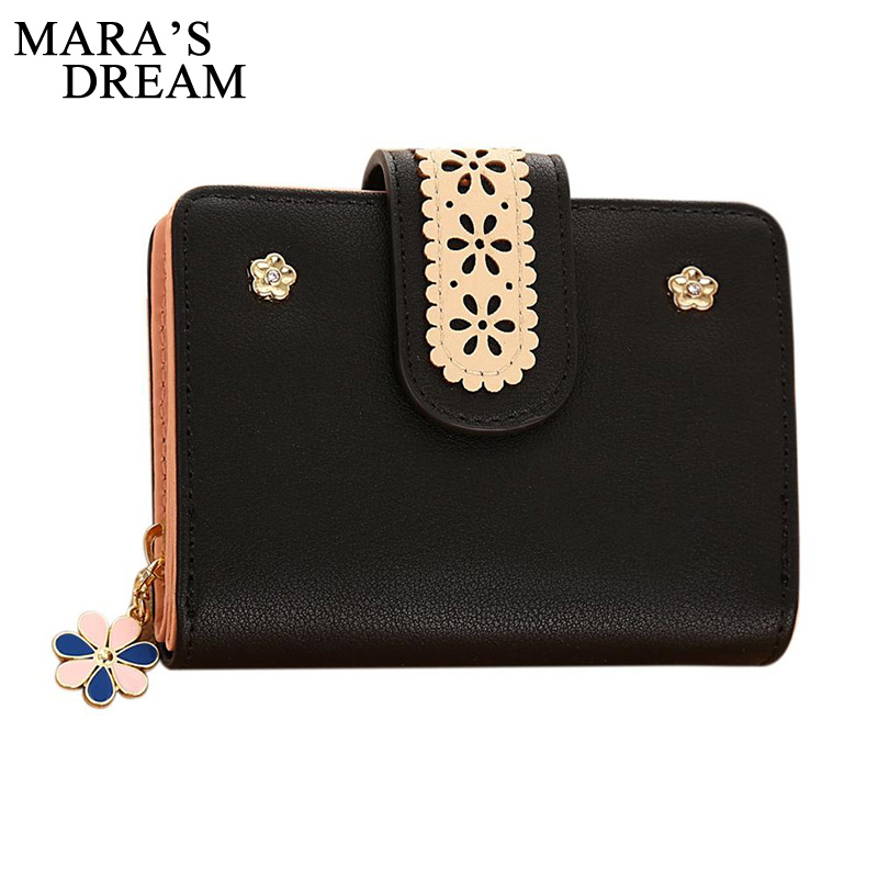 Maras Dream Fashion Women Leather Wallet Coin Purse Money Bag Small Wallet and Purse Zipper Hasp Short Lady Purse Crad Holder