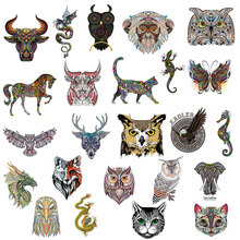 ZOTOONE Cartoon animal patch paste heat transfer vinyl owl elephant butterfly costume DIY micro chapter hot press sticker