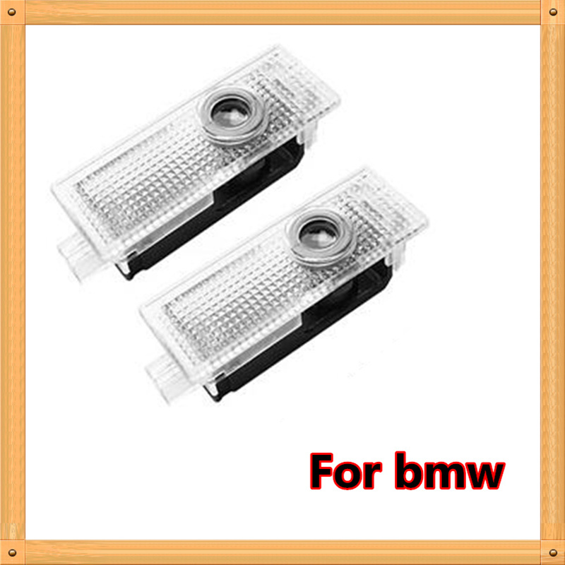 2 x LED puerta coche Bienvenido luz láser proyector de logotipo para BMW X5 E70 E60 E90 F10 F20 F30 X1 X3 E92 F25 F01 F02 X3 X6