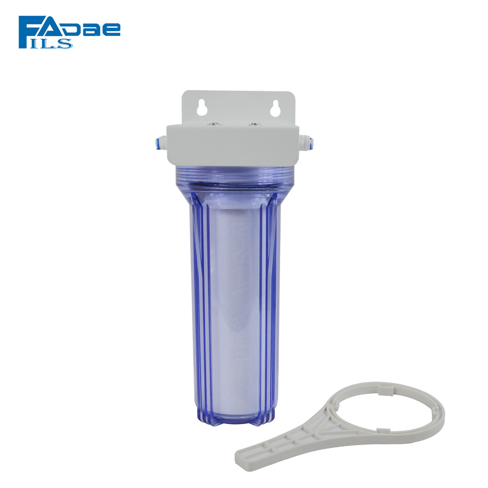 10in. Transparent Standard Whole House Sediment Water Filtration 5 Micron, 1/4 Quick Push Connect high quality 3 stage undersink ion exchange resin drinking water filtration remove calcium and magnesium 1 4 quick connector