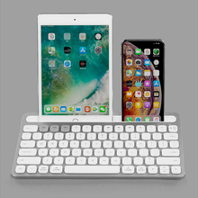 Aluminum Bluetooth Wireless Keyboard 78 keys, Rechargeable & Ultra-thin keyboard for Computer/Laptop/Tablet/Phone