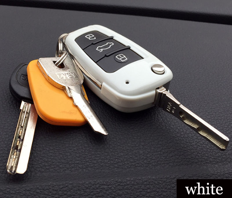High Quality Red White Black ABS Audo Ar Key Cover Case Shell Fob 3 Buttons For Audi A2 A3 A4 A6 A6L A8 TT Q3