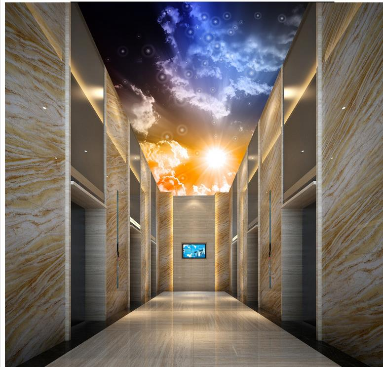Fantasy night sky light cloud ceiling Wallpapers for living room Home Decoration wallpaper 3d mural
