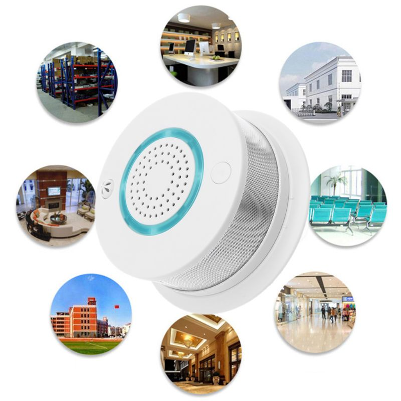 Smart WIFI Wireless Fire Smoke Detector Alarm Temperature Sensor for Home Security APP Remote Control Gadgets