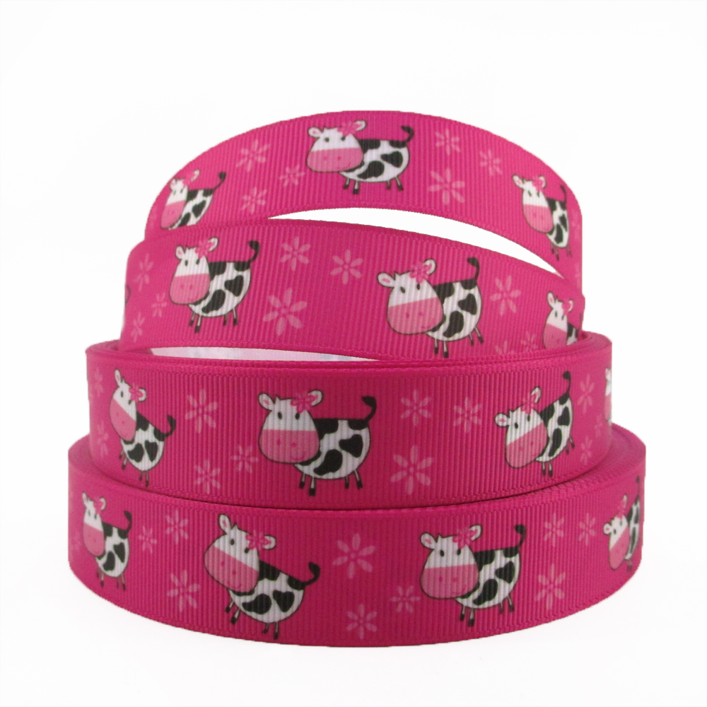 Sewing Room Gift Wrapping Room: David Angie 5yard Different Size Cow Pattern Grosgrain