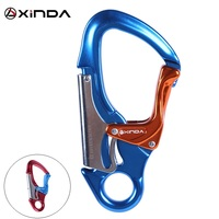 Dual Lock Captive Eye Snap Hook Carabiner for Rock Climbing Arborist Rescue 30KN