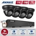 Annke 8ch 720 p hd-tvi dvr recorder sistema de segurança e (4) 1280TVL Fixa Ao Ar Livre Câmeras Dome com IP66 À Prova de Intempéries Dia/Noite