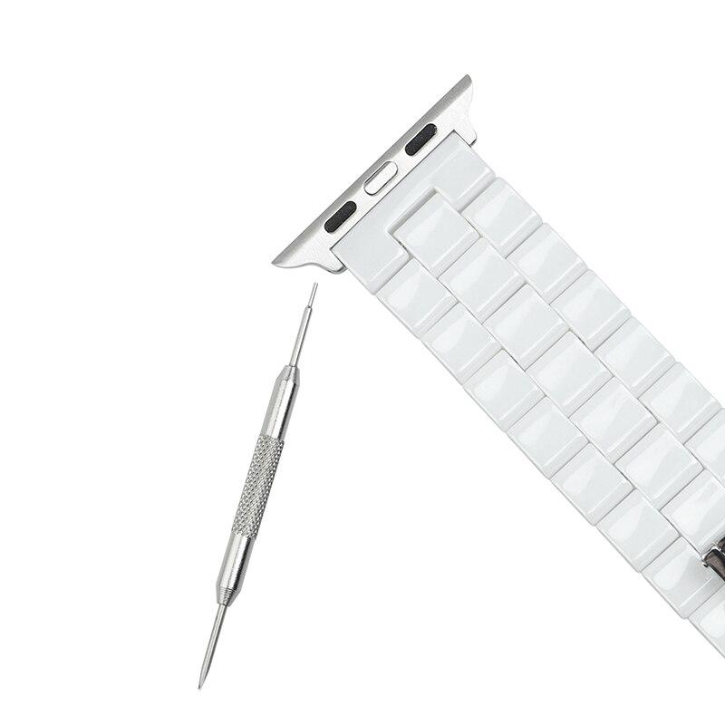 Correa de reloj de cerámica de 44 mm para Apple Watch 38 mm Reloj de - Accesorios para relojes - foto 3