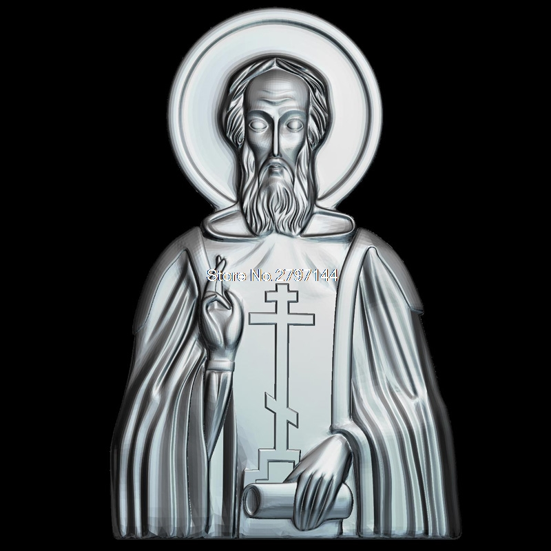 Icon of St. Sergius of Radonezh 3D model relief figure STL format Religion 3d model relief  for cnc in STL file format venerable nikita stylites pereslavsky 3d model relief figure stl format religion 3d model relief for cnc in stl file format