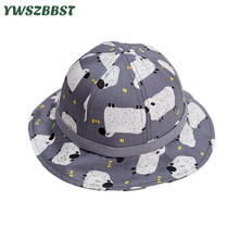 New Spring Summer Baby Girls Sun Hats Children Cotton Bucket Caps Cartoon Hat Kids Cap Boys