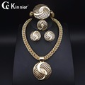 11.11 TOPS Dubai gold plated jewelry gold plated set jewelry Nigeria bead Africa Bridal Jewelry Sets Wedding Jewelry Sets