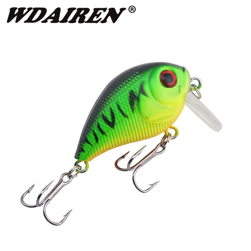 WDAIREN 4.5cm 7g Swim Fishing Lure Minnows Crank Wobbler Artificial Topwater Carp Fly Fishing Hard Bait pesca Tackle WD-424