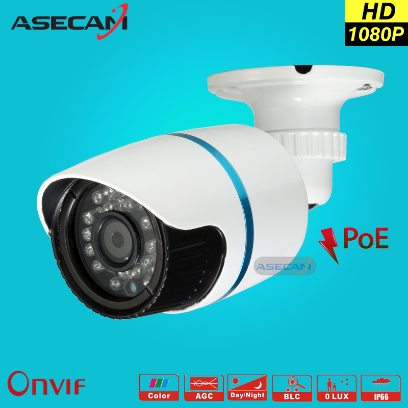 HD 1080P IP Camera 48V POE Security CCTV infrared Night Vision Metal Outdoor Bullet Onvif Network Cam Security Surveillance p2p