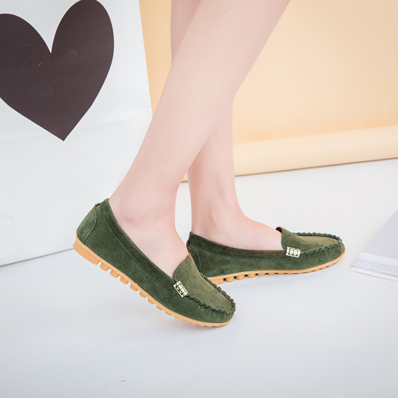 HTB1Uz.XX6nuK1RkSmFPq6AuzFXaR Plus Size 35 43 Women Flats shoes 2019 Loafers Candy Color Slip on Flat Shoes Ballet Flats Comfortable Ladies shoe zapatos mujer